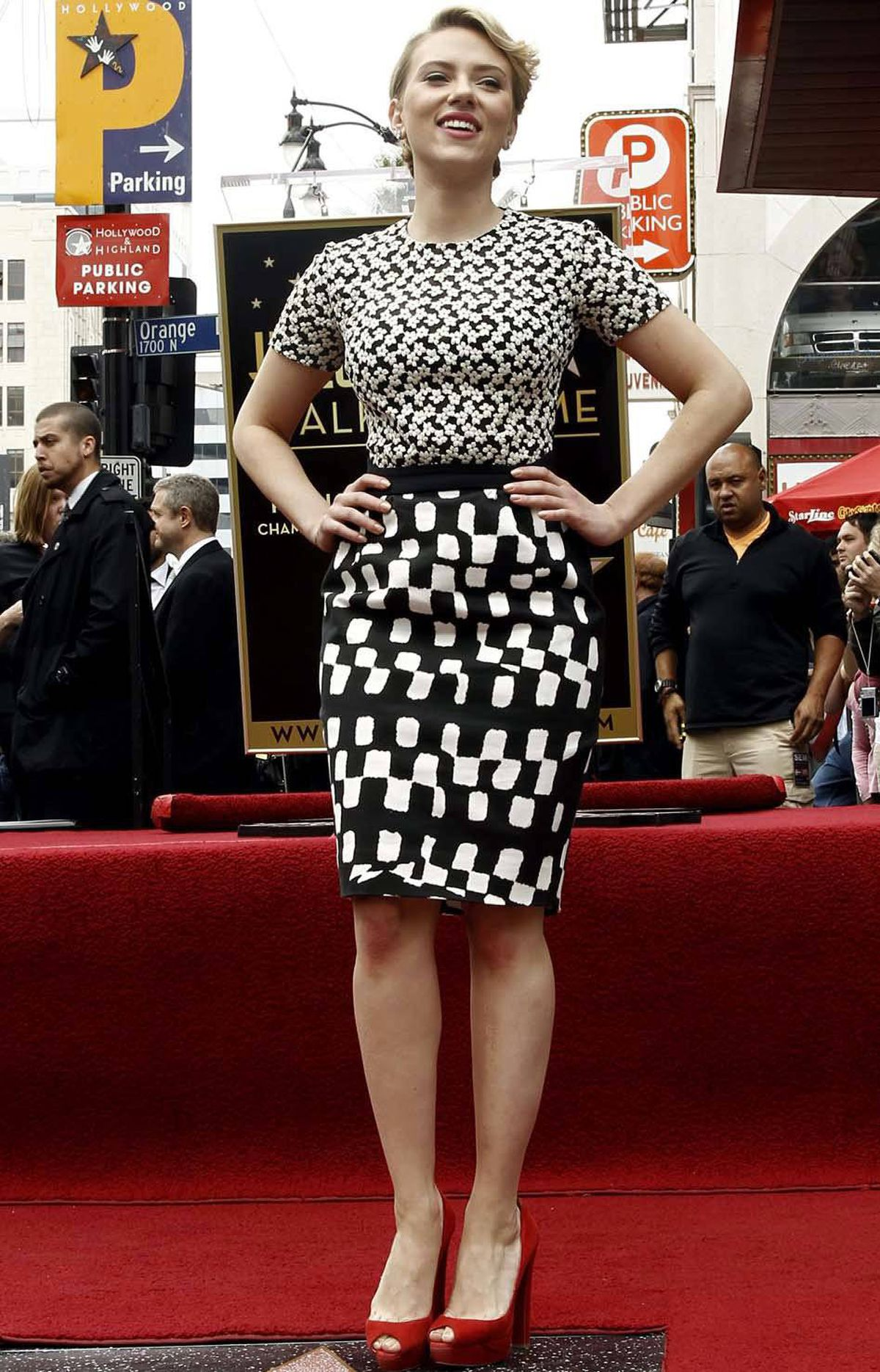Scarlett Johansson, 27, celebrates her monumental lifetime of cinematic greatness at the unveiling of her star on the Hollywood Walk of Fame last week.