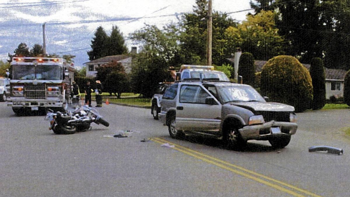 Ted Laturnus motorcycle accident. Credit: police photo
