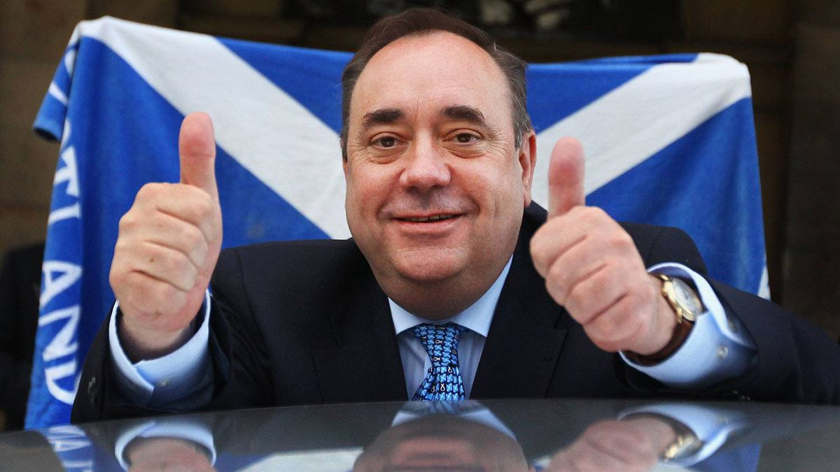 Alex Salmond, Scottish National Party Leader and Scotland's First Minister leaves Prestonfield House following his victory speech on May 6, 2011 in Edinburgh.