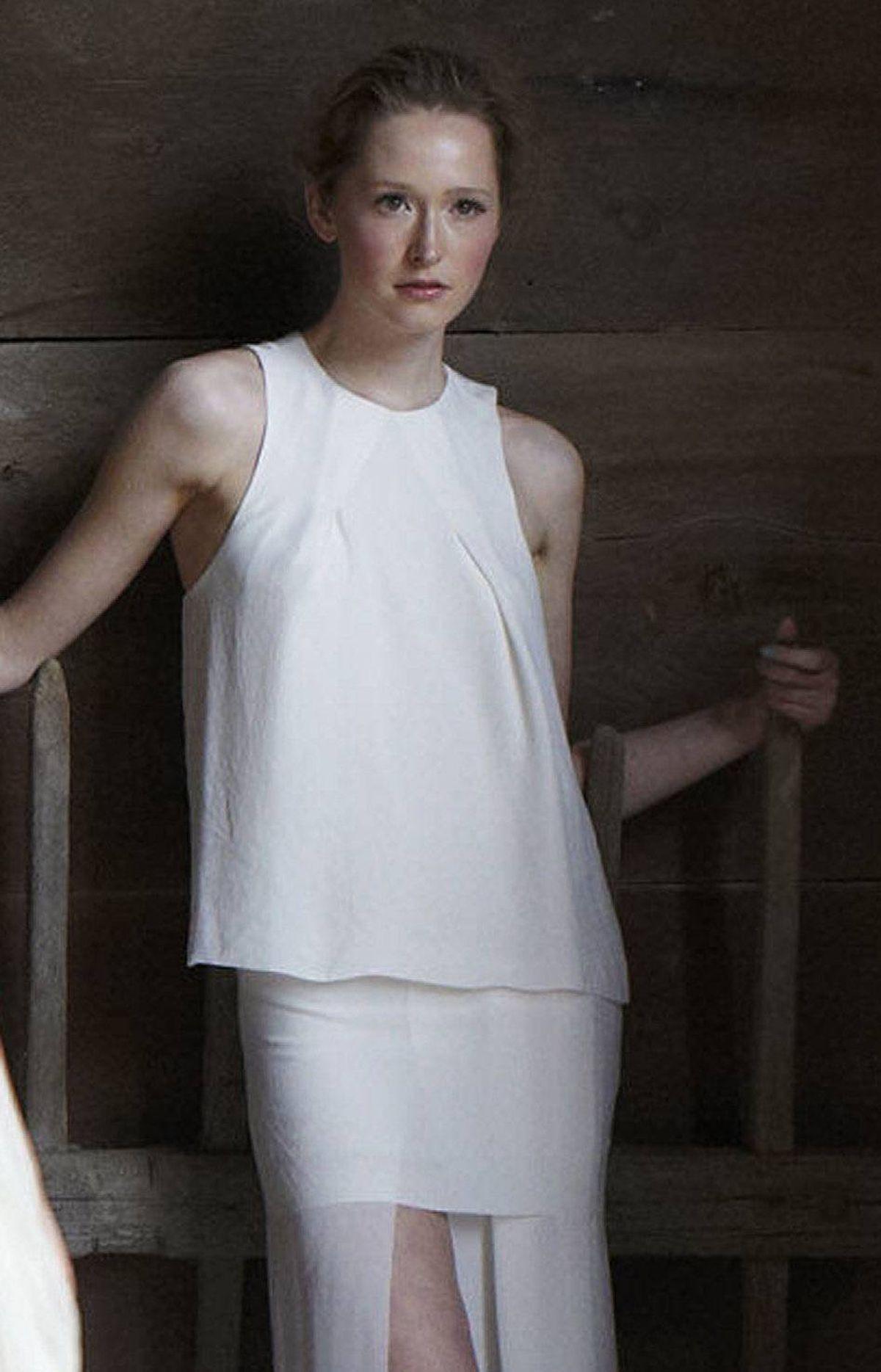 Acne dress, $450, Alexis Bittar bangle, $295 at Holt Renfrew.