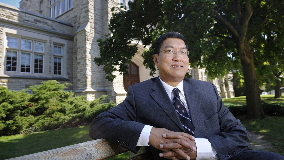 Dr. Amit Chakma, the President of the newly-named Western University, is photographed on campus in London, Ont. Sept. 4, 2009. Mr. Chakma is the driving force behind the rebranding of the university.