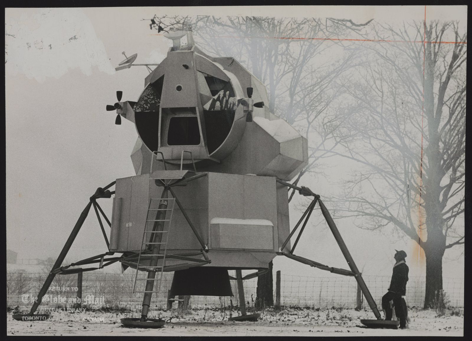 William LISHMAN Pickering.Sculptor (Model of lunar landing module in his back yard may be turned into guest house)