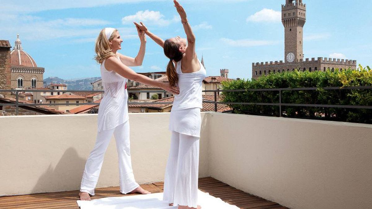 Guests of the Lungarno Collection of boutique hotels can enjoy morning yoga classes on the terrace of the Continentale Hotel in Florence.