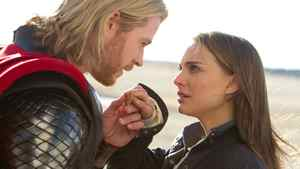 """Chris Hemsworth and Natalie Portman in a scene from """"Thor."""""""