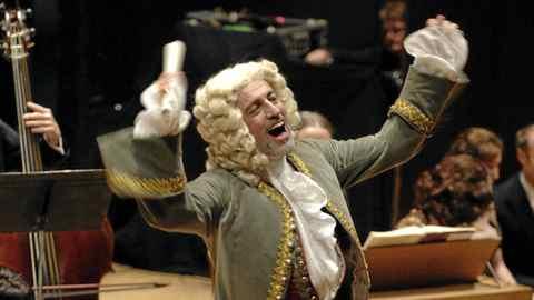 Ivars Taurins as Herr Handel at SING-ALONG MESSIAH at Massey Hall