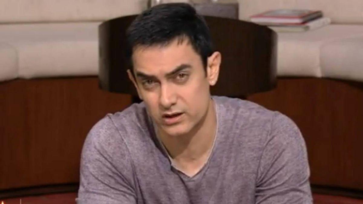 Bollywood star Aamir Khan speaks on his Indian talk show.
