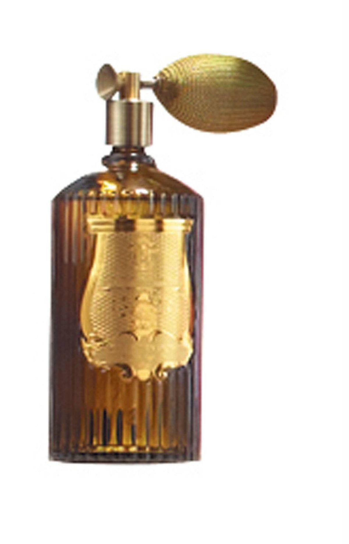 Hand-moulded green-glass Cire Trudon room spray with golden atomiser, $160 at Avenue Road (www.avenue-road.com).