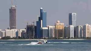 A view of the Abu Dhabi skyline.