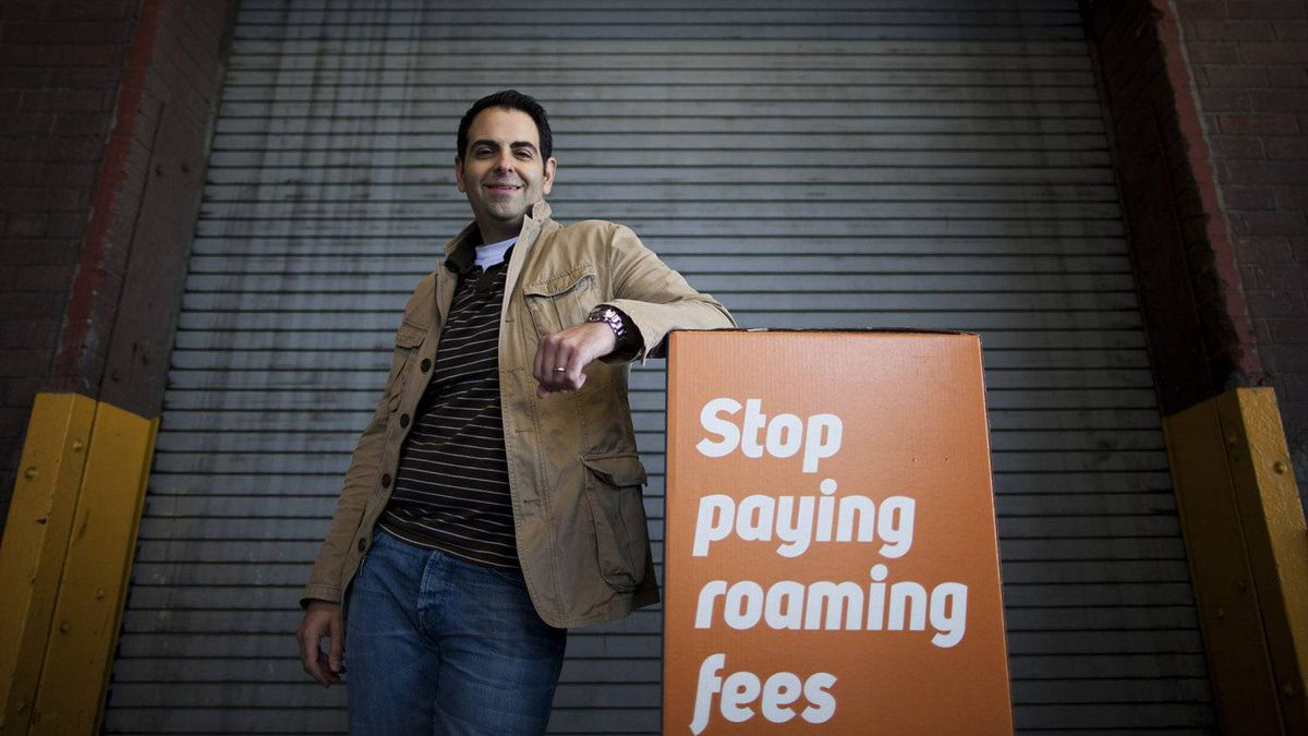 Emir Aboulhosn, CEO of Roam Mobility, outside the company's offices in Vancouver. Upstart Roam offers cheaper alternatives to high roaming rates the major wireless companies charge when customers travel to the United States with their smartphones in tow.