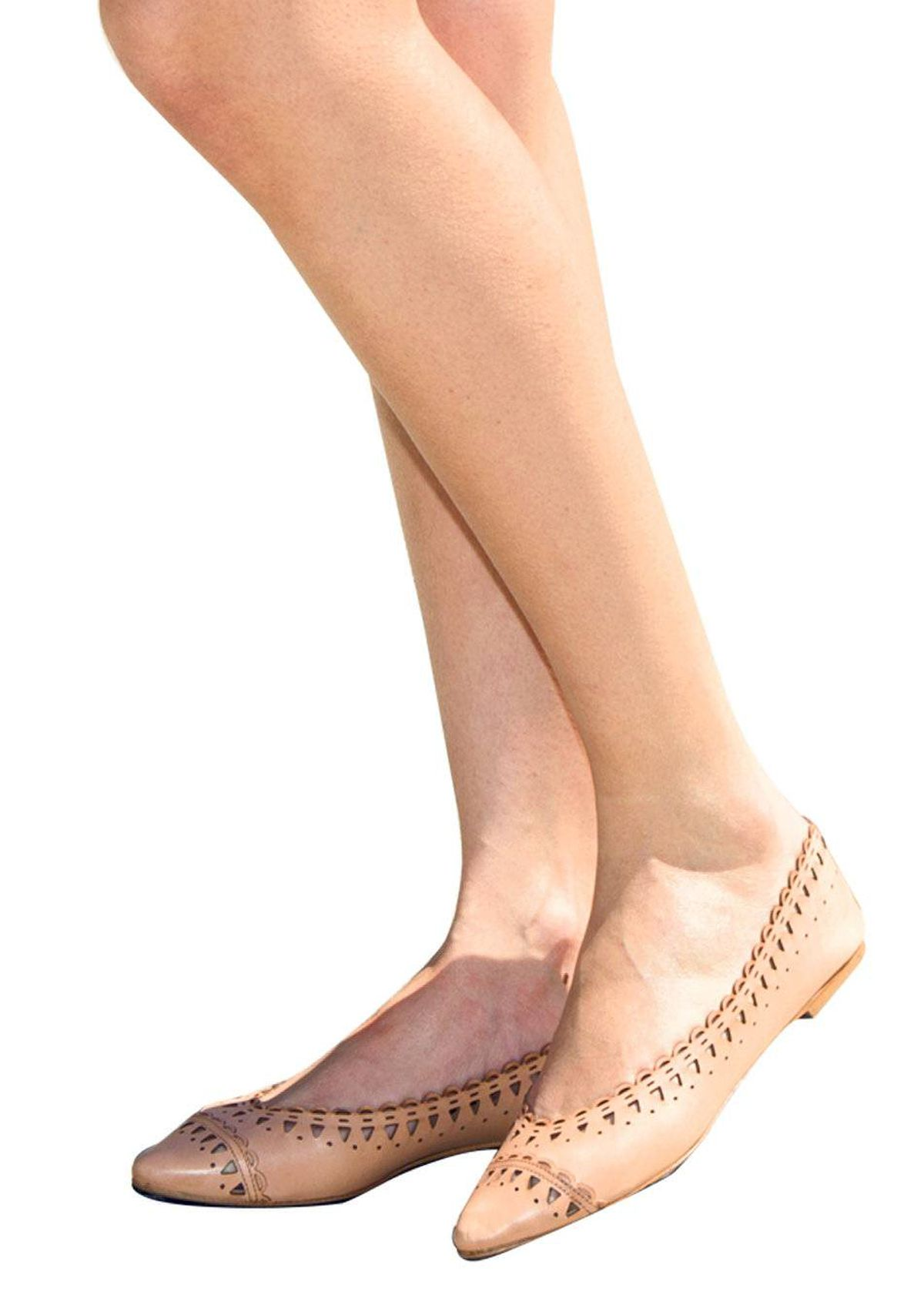 A band of laser-cut triangles gives these ballet flats a special kick. Sandro flats, $495 at the Bay.