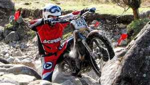 Rider Jonathan English at Scottish Six-day Trials