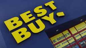 The Best Buy logo is displayed on a store in Miami, Fla.