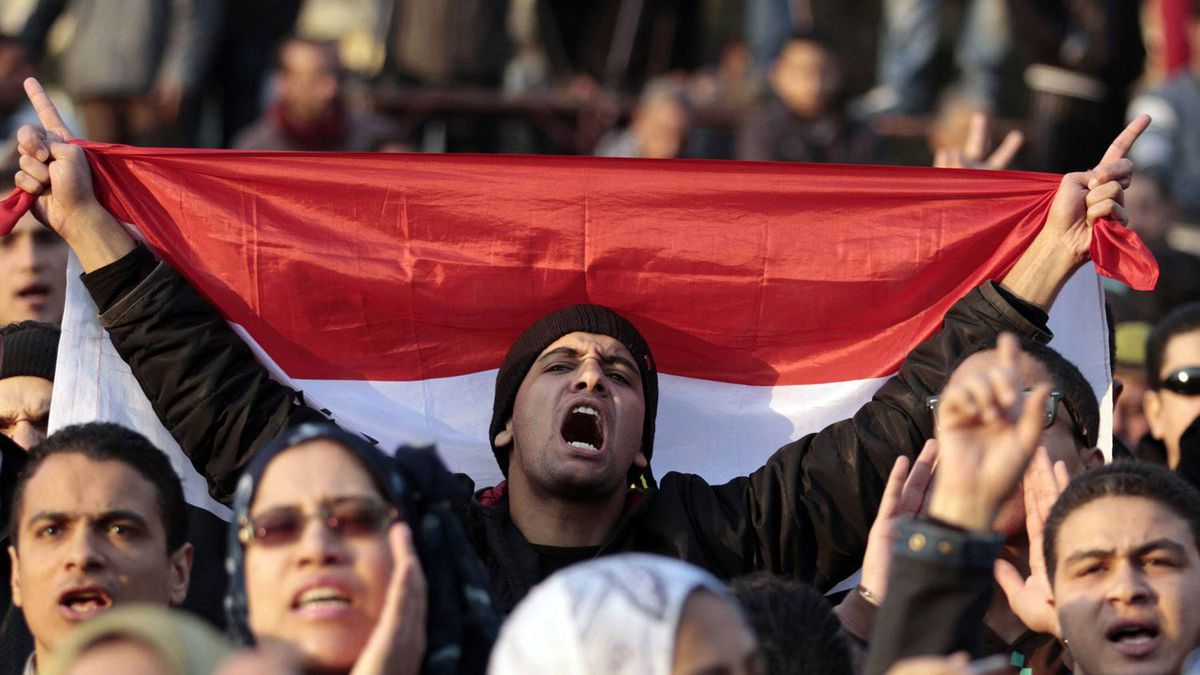 Demonstrators take part in a protest against the Egyptian military council at Tahrir square in Cairo January 20, 2012.