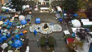 The Occupy Vancouver site at the Vancouver Art Gallery November 11, 2011.