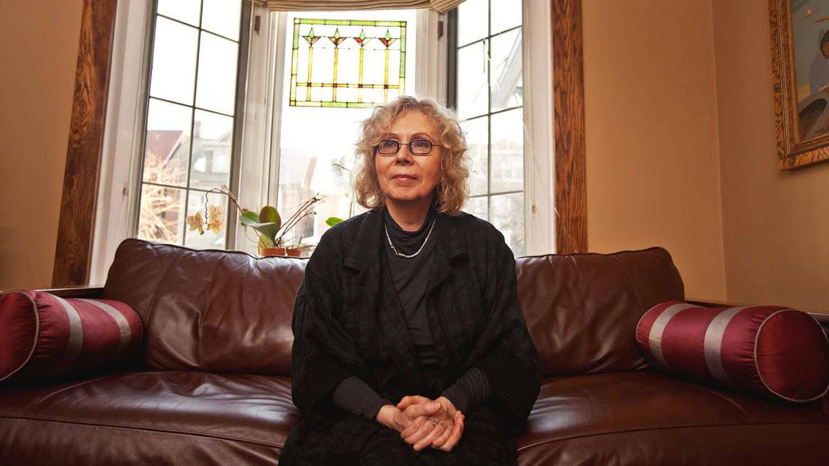 """Eva Stachniak, author of """"The Winter Palace,"""" a novel about Catherine the Great, in her Toronto home on Jan. 16, 2012."""
