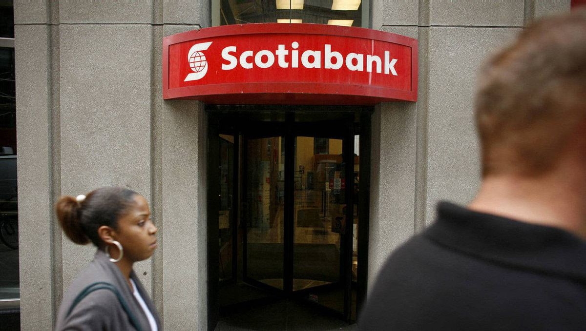 A Scotiabank branch in Toronto.