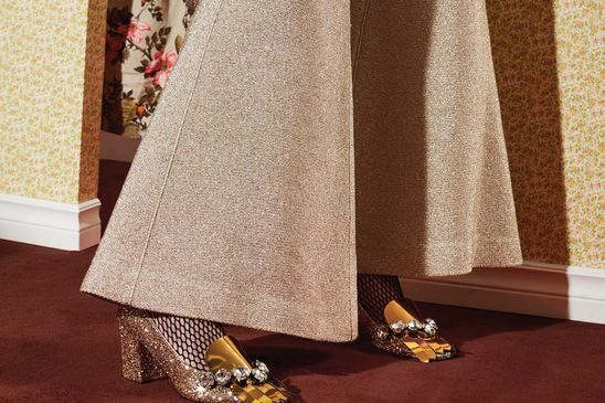 Gold, silver and red: Spectacular shoes for all your holiday party needs