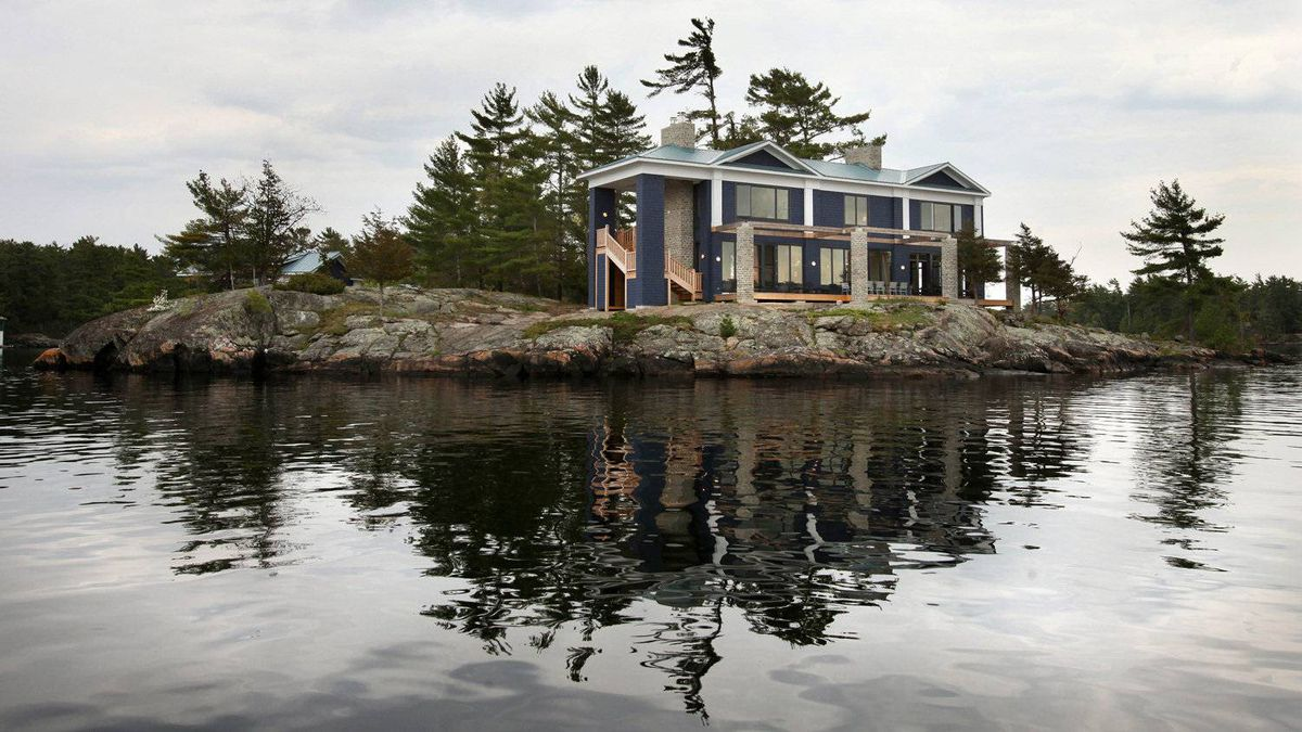 Designer and architect Dee Dee Taylor Eustace has completed her family's cottage on an island in Stoney Lake, north of Peterborough.