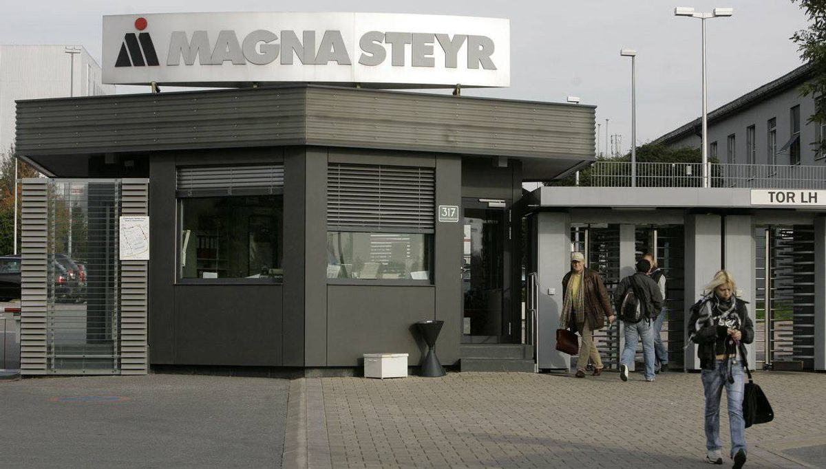 The Magna Steyr factory in Graz, Austria. Granite Real Estate rents office and factory properties to Magna.