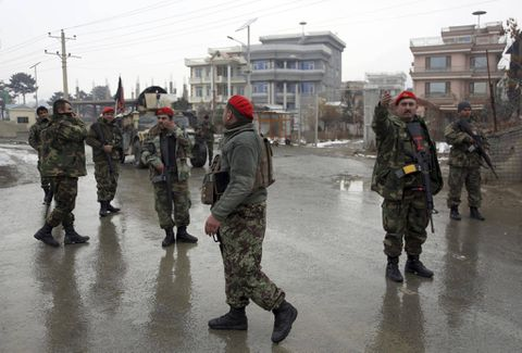 Blasts heard near military academy in Afghan capital