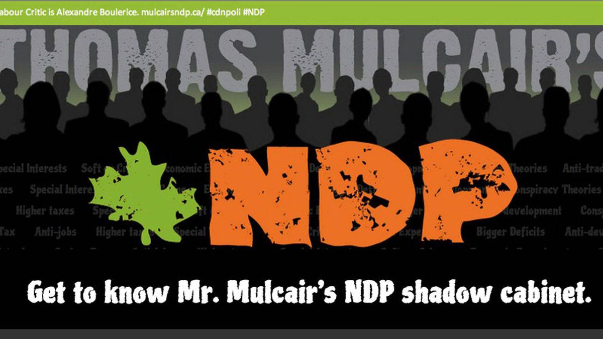 The Conservative Party has unveiled a website criticizing individual members of NDP Leader Thomas Mulcair's team of opposition critics.