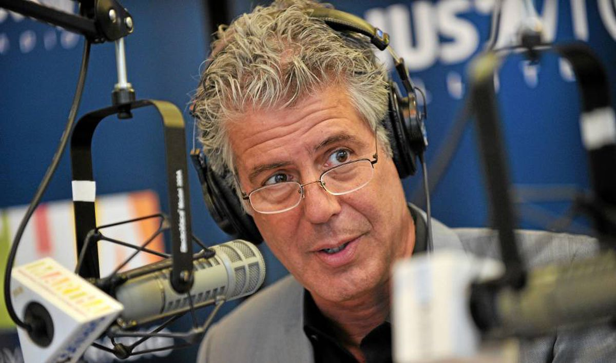 Anthony Bourdain doesn't miss the physical punishment of being a chef, but he misses the camaraderie.