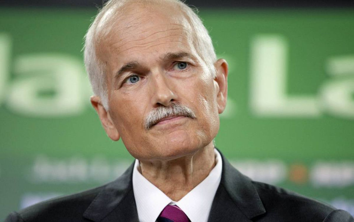 NDP Leader Jack Layton speaks at an Ottawa news conference on July 6, 2010.