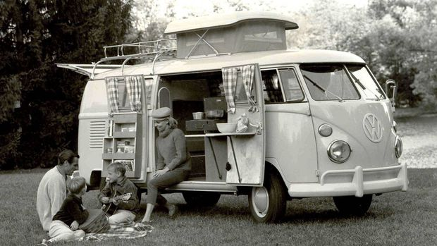 VW Westphalia camper van. With a 30-horsepower engine, all VW vans were slow. Adding a kitchen and bedroom didn't help. Accelerating to highway speed could take a minute or more. Top speed was listed as 109 km/hr. It was rarely achieved.