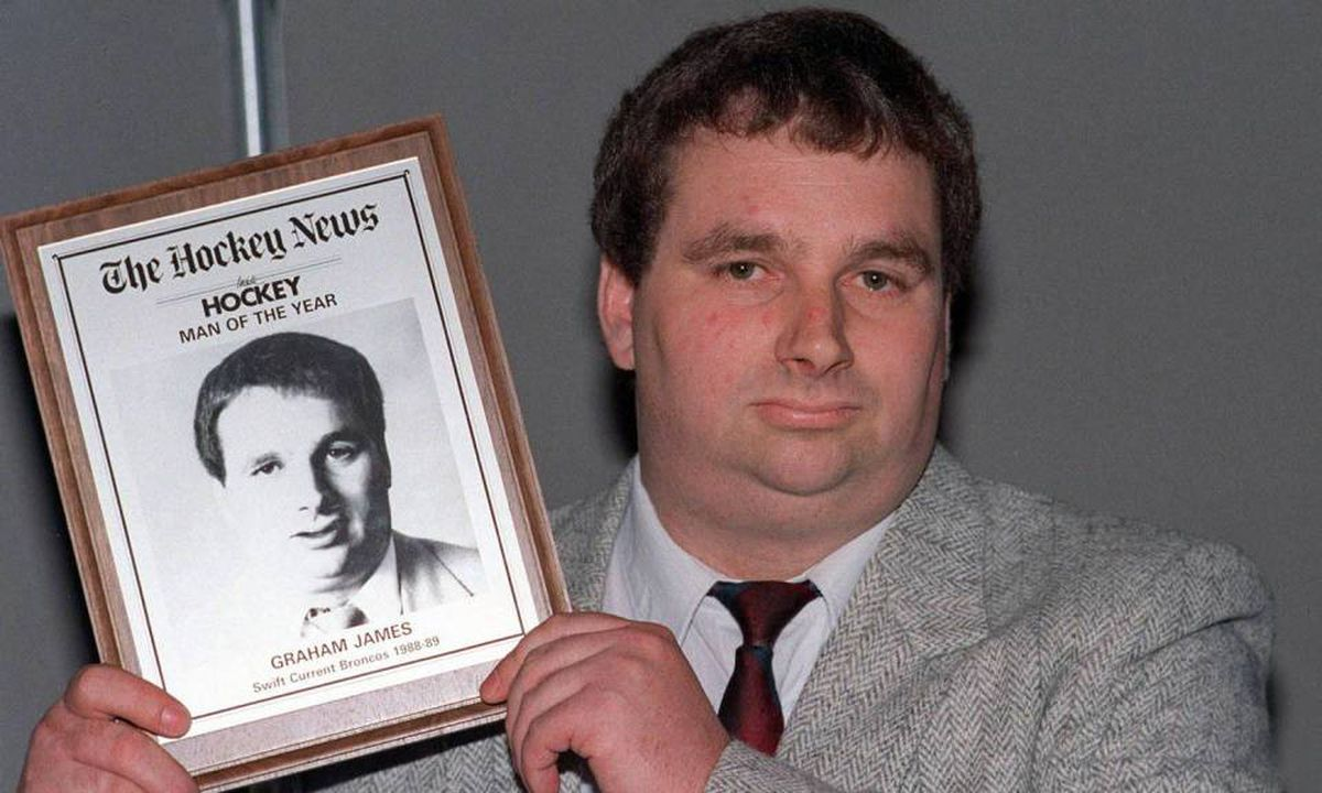 A 1989 file photo of former junior hockey coach Graham James, who has been pardoned for sex crimes against players.