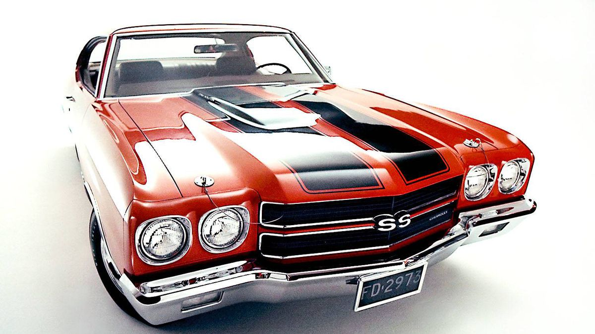 1970 Chevrolet Chevelle SS. The muscle car era reached its peak in 1970, as Chevelle SS power climbed to record highs. With the optional 450-hp, LS-6 454 big-block V-8 engine, it could top 100 mph in 13.3 seconds.