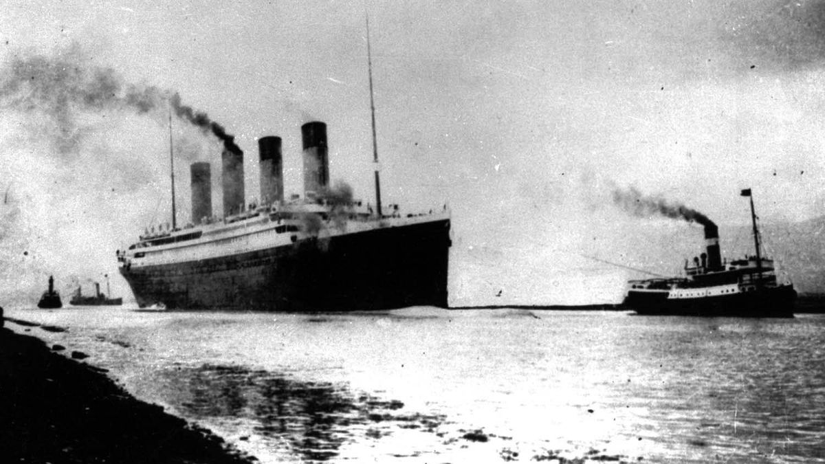 The Titanic departs Southampton, England, on April 10, 1912, prior to her maiden (and only) Atlantic voyage to New York City.