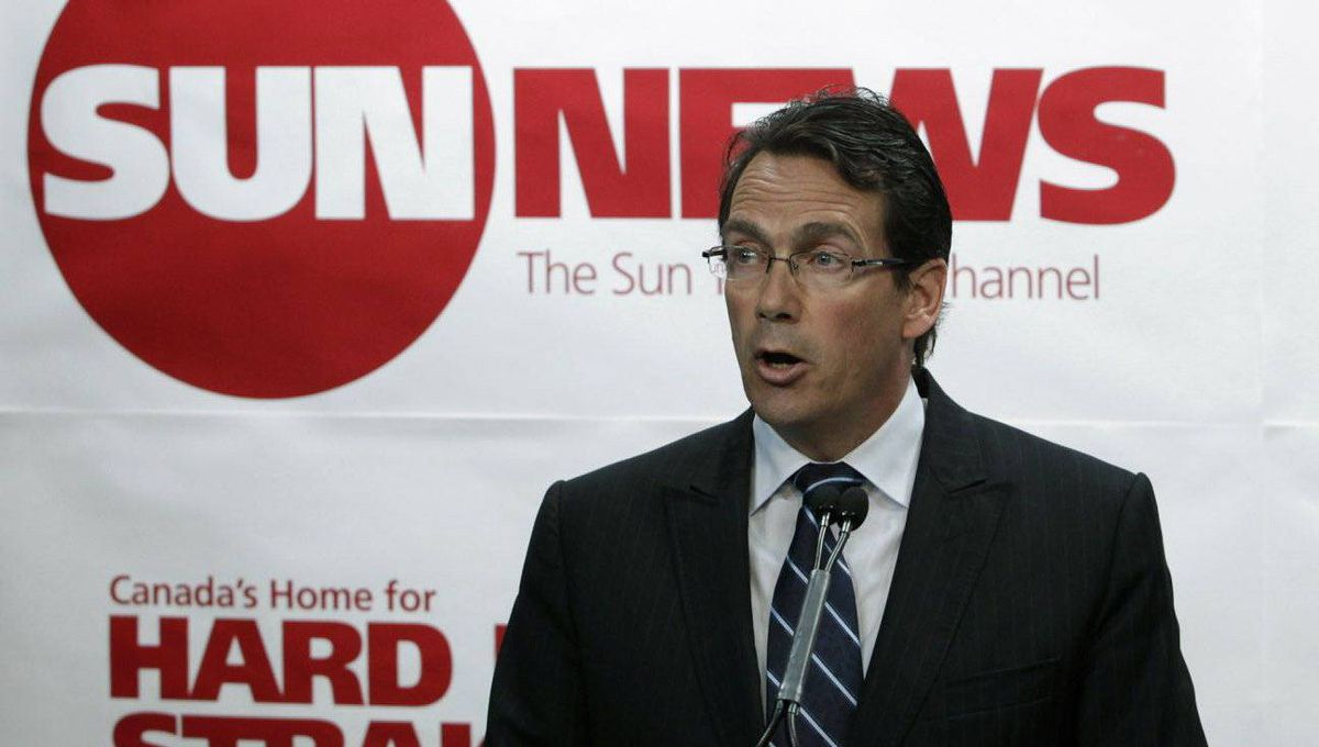 Pierre Karl Peladeau, president and CEO of Quebecor Inc., announces his companies' investment in the creation of a new English specialty channel called 'Sun News.
