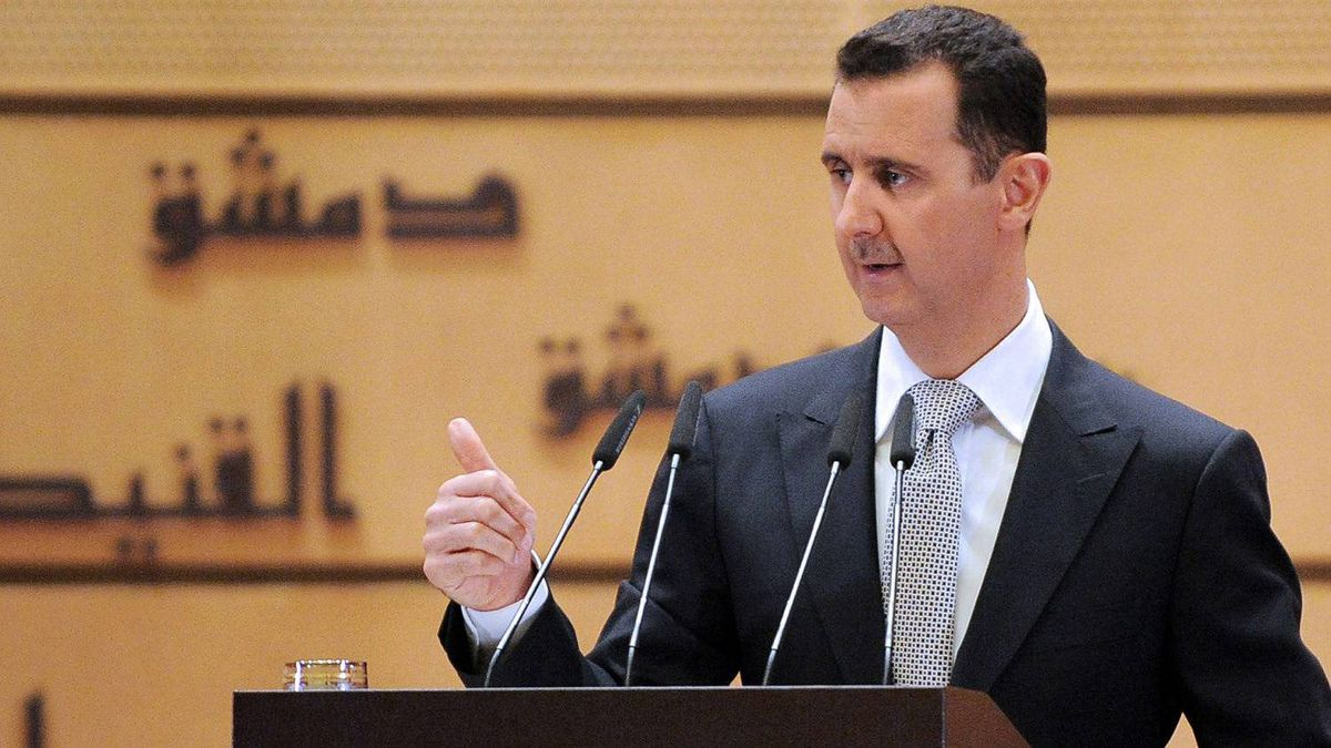 In this photo released by the Syrian official news agency SANA, Syrian President Bashar Assad delivers a speech at Damascus University, in Damascus, Syria, Tuesday, Jan. 10, 2012.