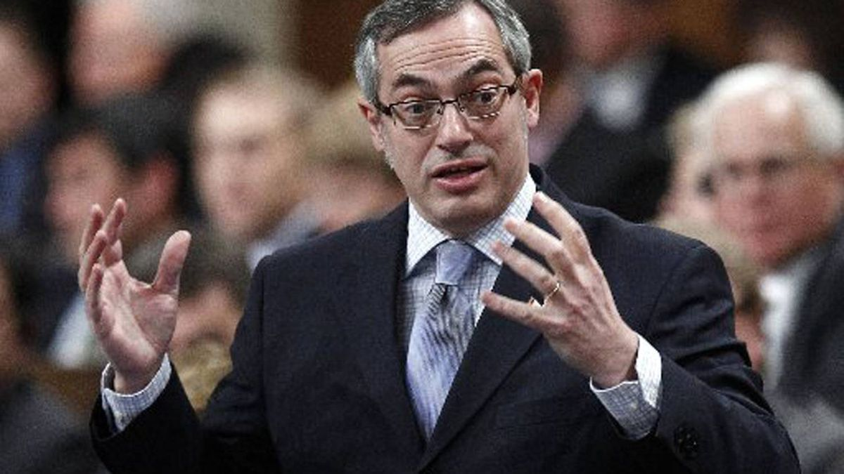Treasury Board President Tony Clement speaks during Question Period in the House of Commons on Parliament Hill in Ottawa on Feb. 1, 2012.