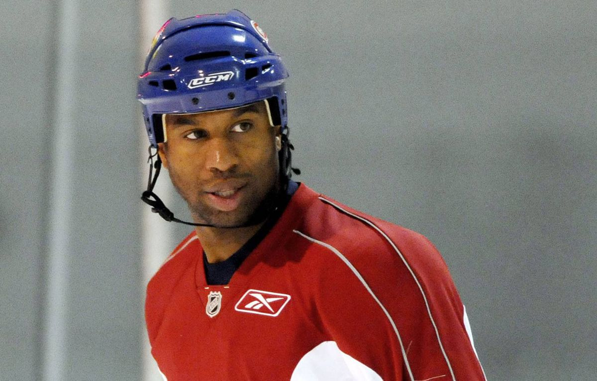 Georges Laraque says he has lost weight this off-season and is now down to 245 pounds after following his strict vegan diet since June 1.