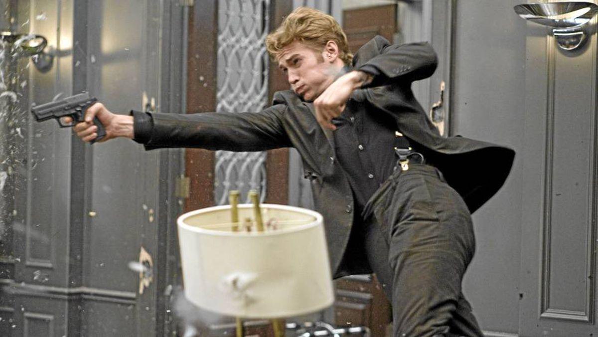 Hayden Christensen in the action-heavy film Takers.