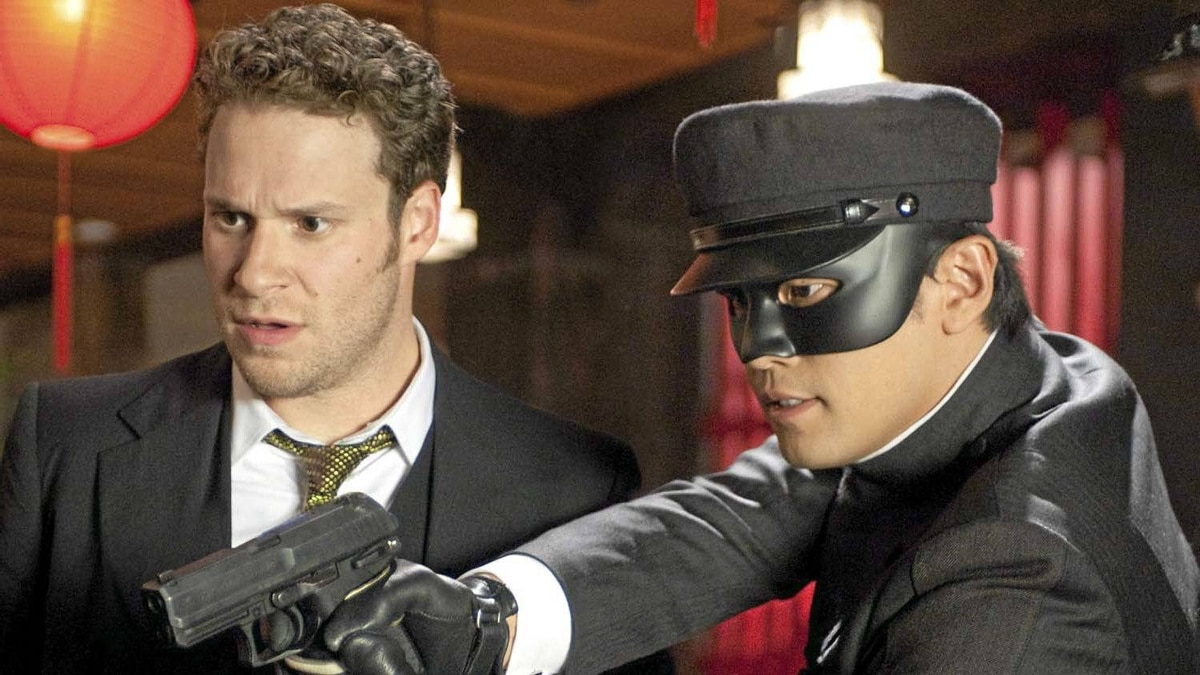 """Seth Rogen (left) and Jay Chou in """"The Green Hornet"""""""