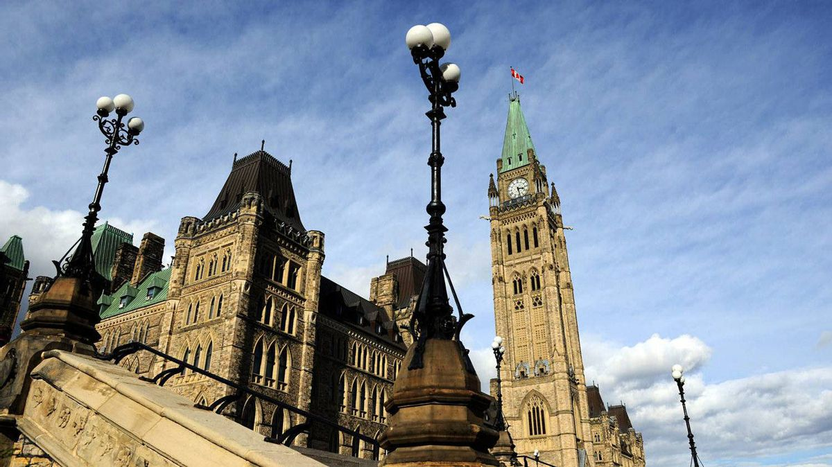 Parliament Hill in Ottawa on Tuesday, October 18, 2011.