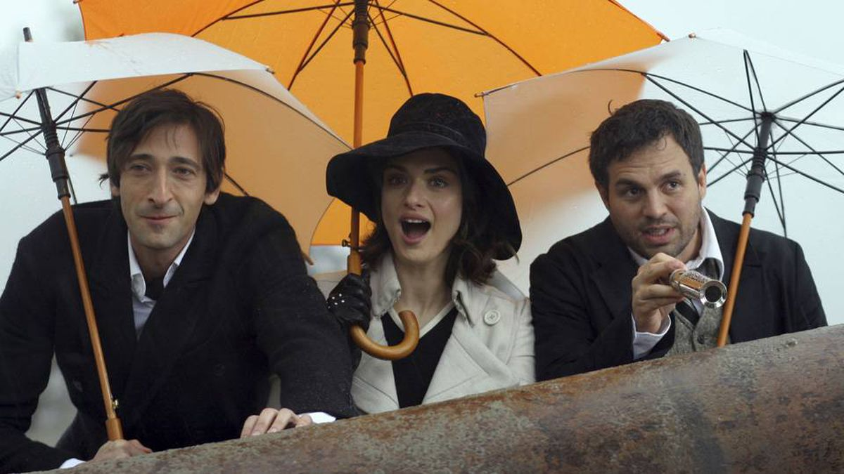 From left, Adrien Brody, Rachel Weisz, and Mark Ruffalo in The Brothers Bloom.