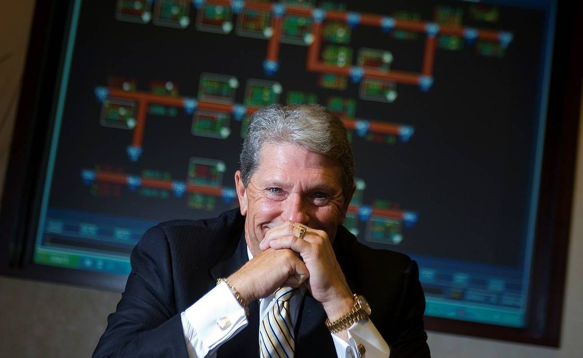 Hunter Harrison, former president and CEO of CN , poses in his Montreal offices on October 20, 2009