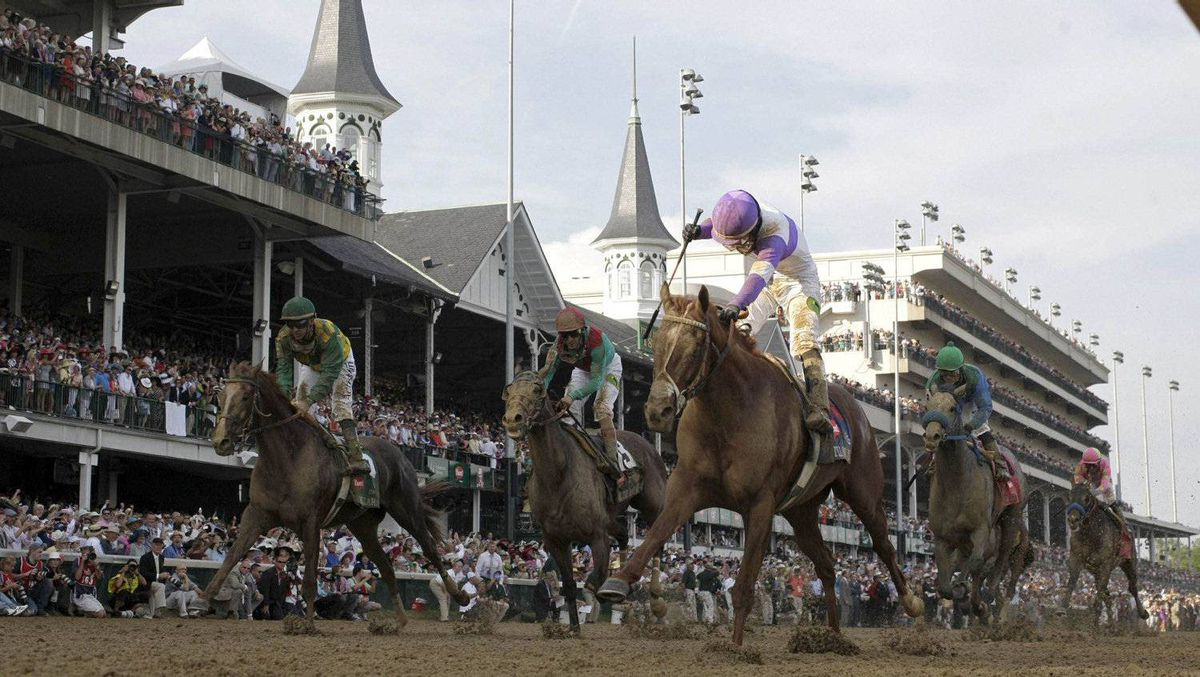 I'll Have Another (C), with jockey Mario Gutierrez in the irons, wins the 138th Kentucky Derby at Churchill Downs in Louisville, Kentucky, May 5, 2012. REUTERS/John Gress