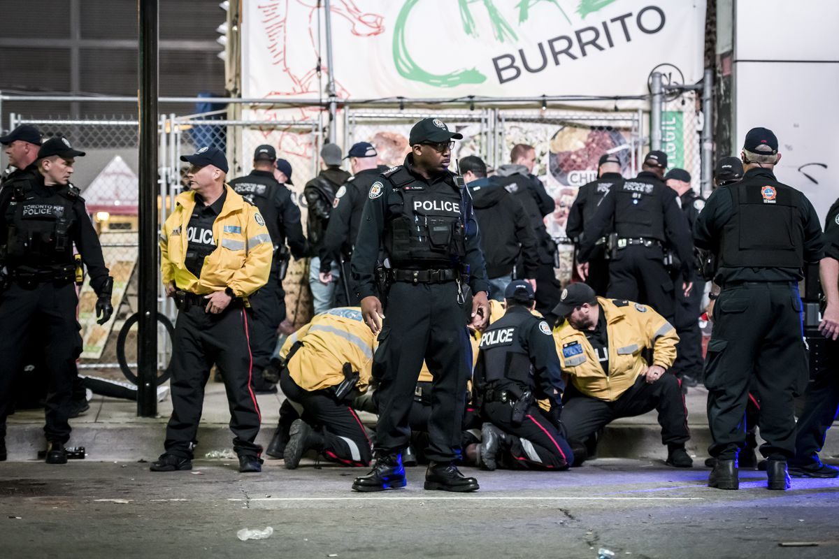 Several arrests made after shooting near Toronto's Yonge-Dundas Square, police say