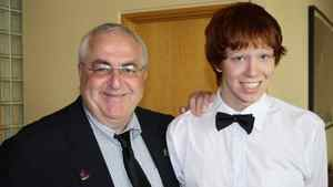 Ottawa city councillor Allan Hubley poses with his son Jamie in this family photo released on Monday Oct. 17, 2011.
