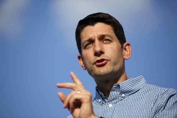 Republican vice presidential candidate Representative Paul Ryan (R-WI) speaks during a campaign rally at Miami University in Oxford.