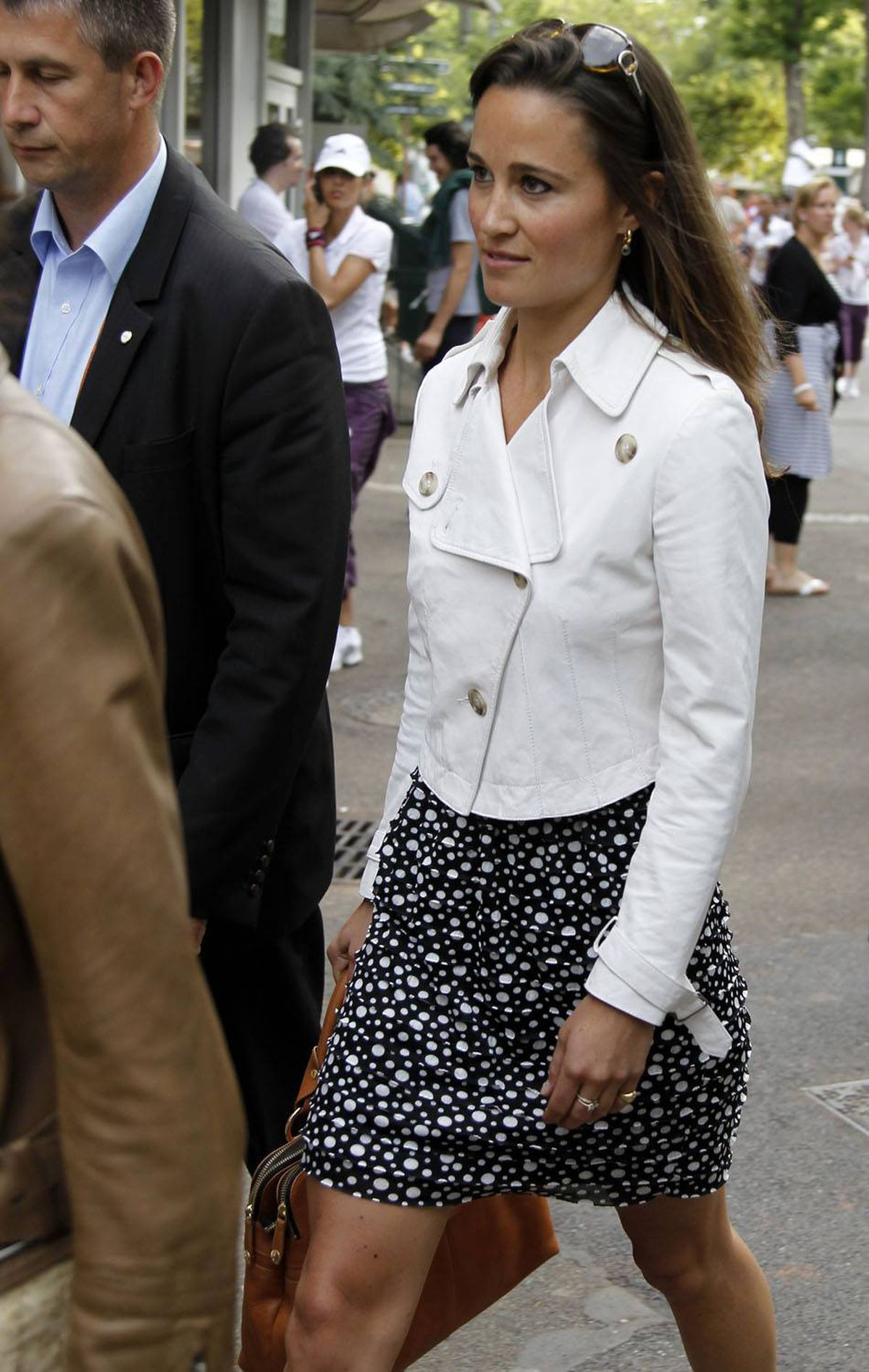 She also attended the French Open in Paris (because one tournament is never enough).