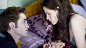 Robert Pattinson as Edward Cullen and Kristen Stewart as Bella Swan in The Twilight Saga: New Moon. Kimberley French/Summit Entertainment/AP