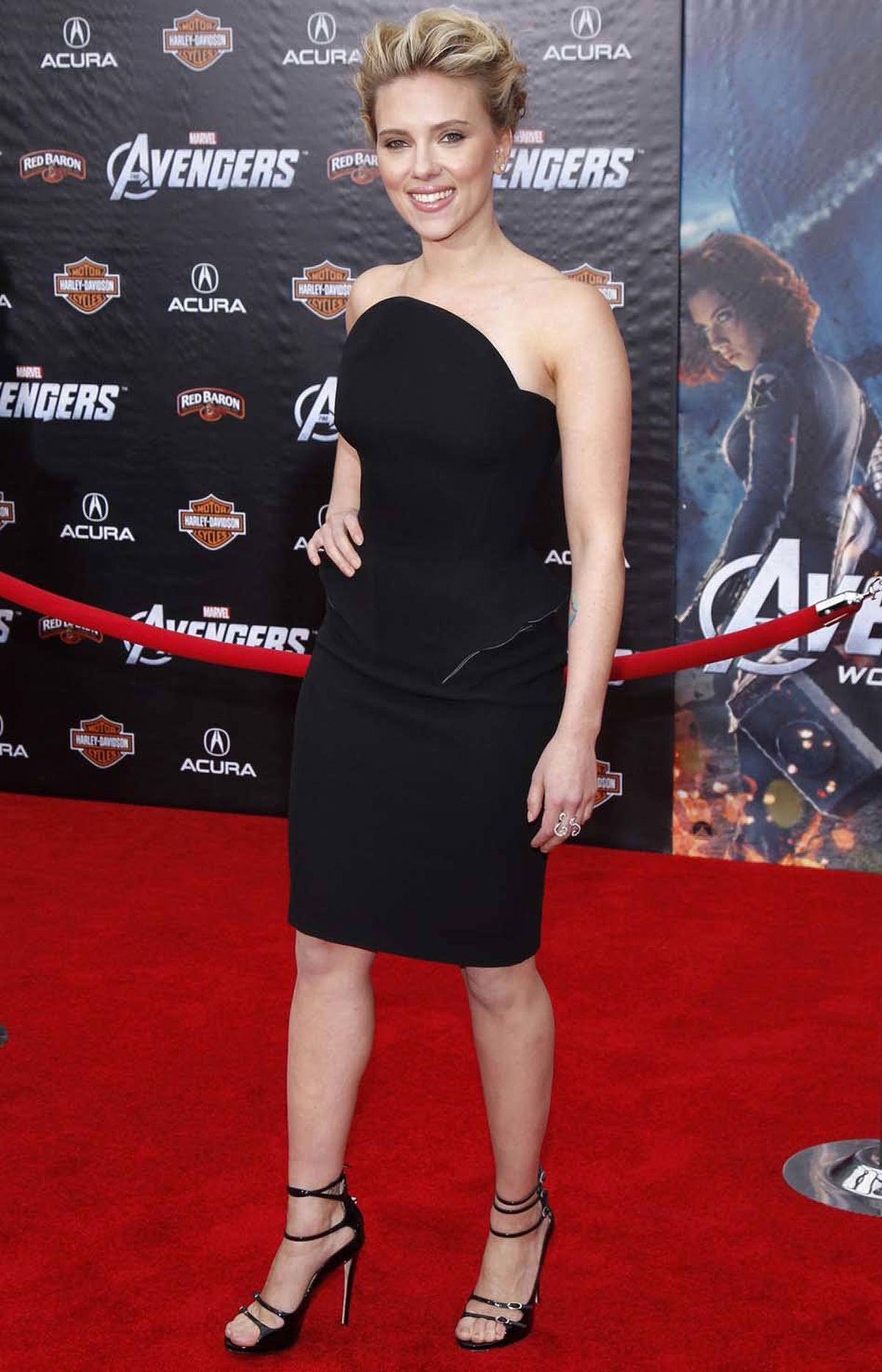 """Scarlett Johansson was the picture of class and poise at the premiere of """"Marvel's The Avengers"""" in Hollywood last week."""