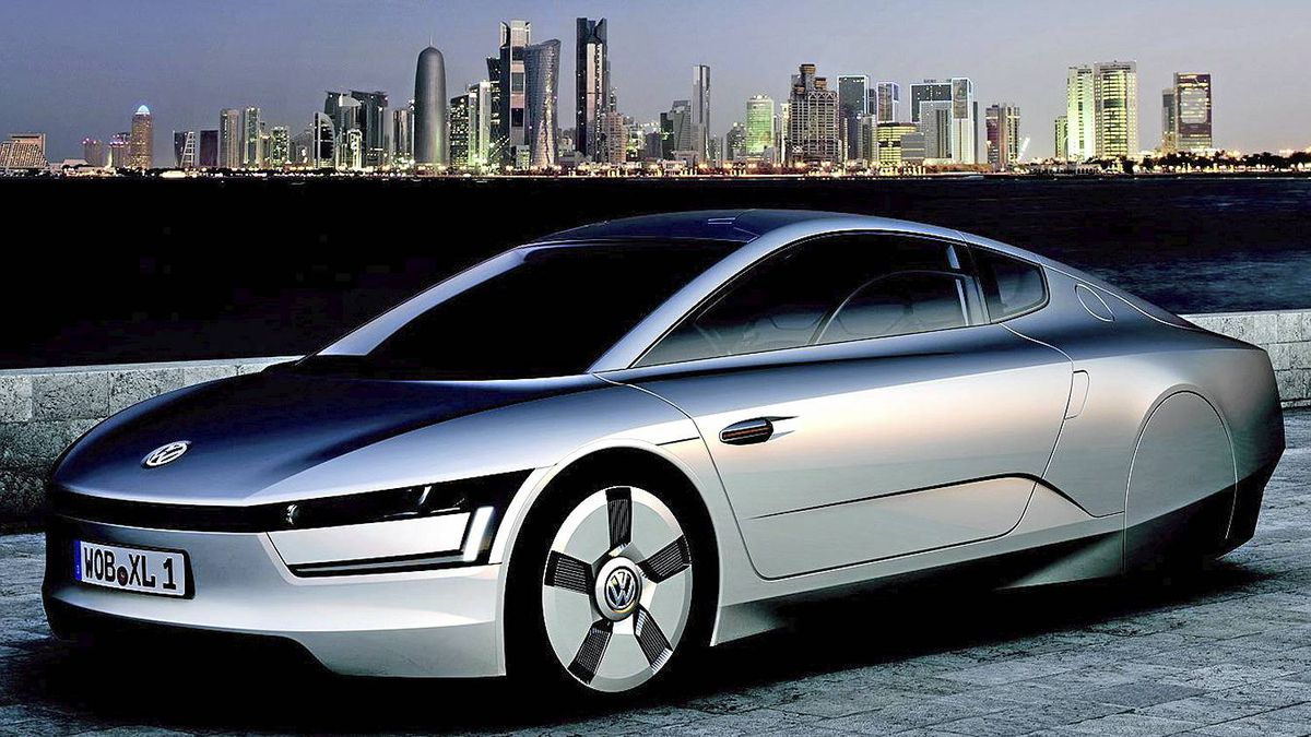 Concept photo of Formula XL1 plug-in diesel electric two-seater.__Credit: Volkswagen