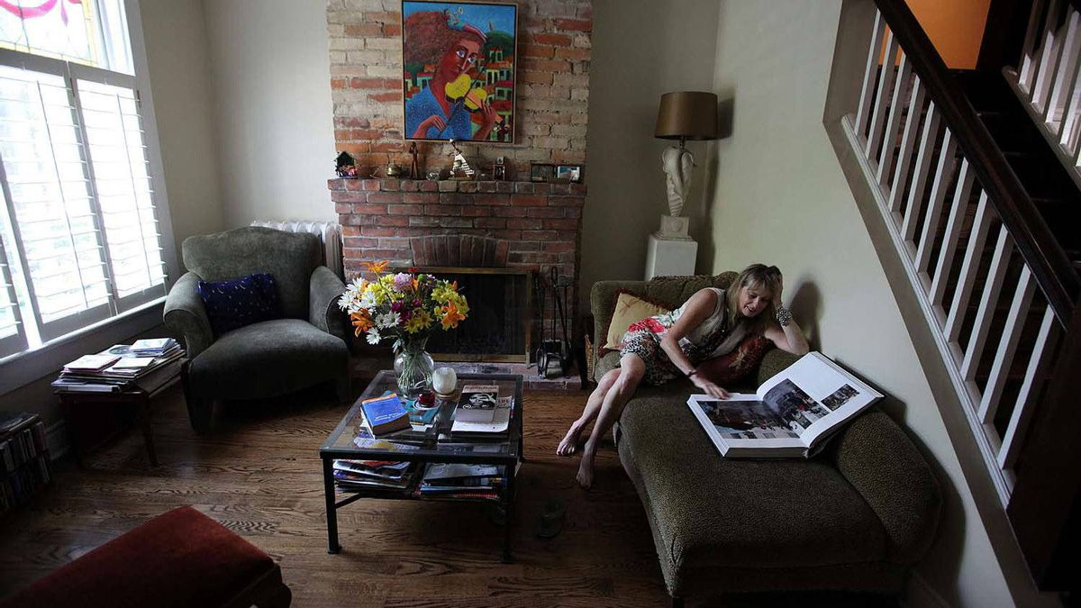Musician Jane Bunnett in one of her favourite spots to read in her home in Toronto.