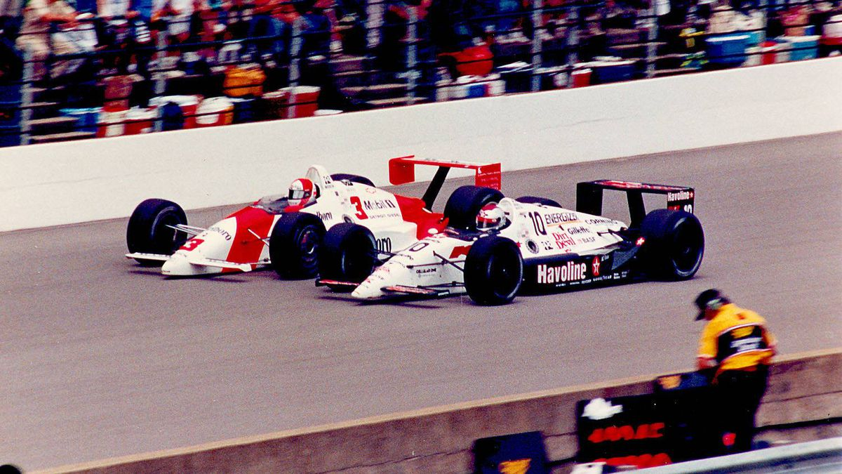 "1991 Indianapolis 500 Michael Andretti came closest to winning the ""Greatest Spectacle in Racing"" in 1991 when he led for much of the race but lost a late duel with eventual winner Rick Mears (#3 Penske) and finished second."